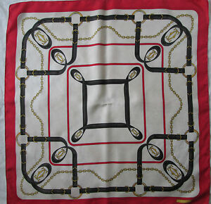 Magnifique Foulard MUST DE CARTIER 100% soie TBEG vintage scarf ... 4362fd6aa61