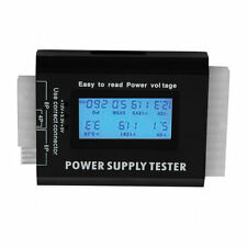 Digital LCD PC Computer PC Power Supply Tester 20/24 Pin SATA HDD Testers FE