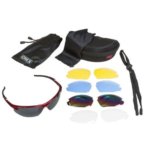 CHEX Ace Sunglasses Sports Glasses 5 Interchangeable Lenses Blue Flexible Frame
