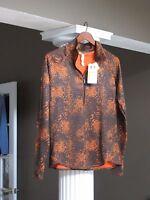 Under Armour Orange/brown Women's Fitted Cold Gear Running Sweatshirt Size L