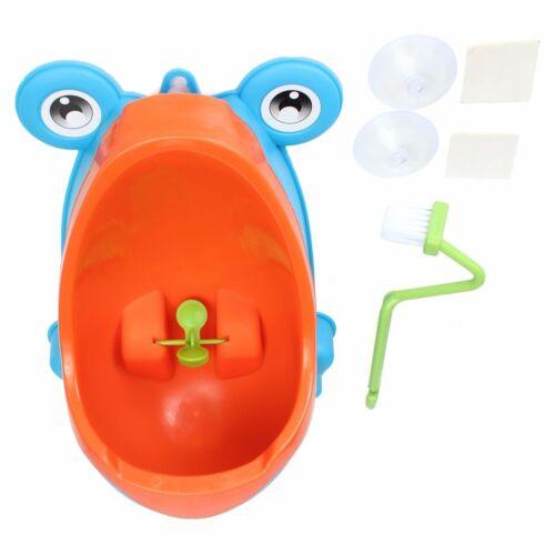 Lovely Frog Brush Cleaning Children Potty Toilet Training Kids Urinal Kid Boy