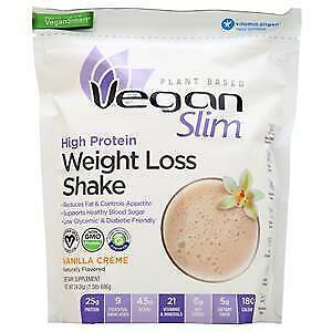 Naturade Vegan Slim High Protein Weight Loss Shake Vanilla Creme 1.5 lbs