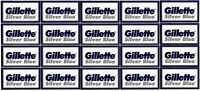 100-Pack Gillette Silver Blue Double Edge Razor Blades