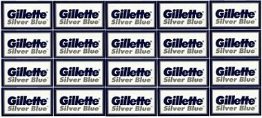 100 Gillette Silver Blue Double Edge Razor Blades