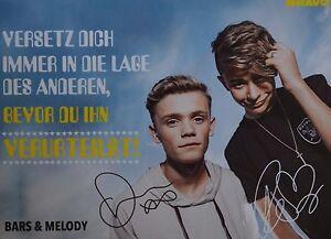 BARS-AND-MELODY-Autogrammkarte-Autograph-Autogramm-Fan-Sammlung-Clippings