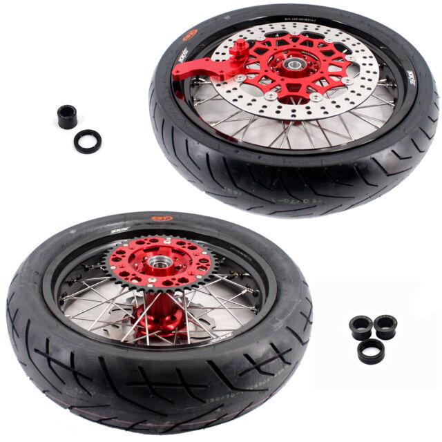 KKE 3.5/4.25 Supermoto Wheels Set CST Tires For Honda CRF250X 04-18 450X 05-18