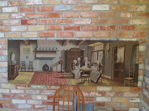 """LARGE  24""""  X  69 7/8""""  ANTIQUE DUTCH TAPESTRY ARTISTICALLY BEAUTIFUL-HOLLAND"""