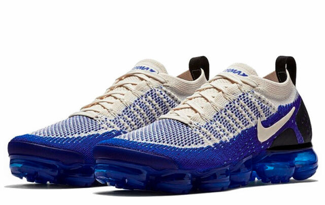 promo code ebac5 0b1bf Nike Air VaporMax Flyknit 2.0 Light Cream/Racer Blue/Black Size 11 NWT