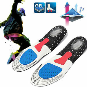 NEW-Men-Gel-Orthotic-Sport-Running-Insoles-Insert-Shoe-Pad-Arch-Support-Cushion