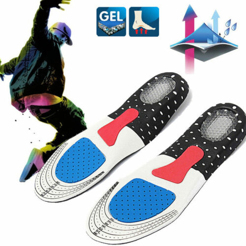 NEW Men Gel Orthotic Sport Running Insoles Insert Shoe Pad Arch Support Cushion@