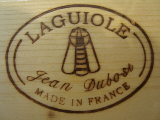 Set 6 French Laguiole steak knives knives knives six different woods, wooden case by Dubost 0622de