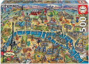 Educa-Rompecabezas-500pc-mapa-de-la-ciudad-de-Paris-PL
