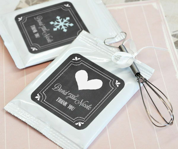 24 Personalized Chalkboard Wedding Theme Lemonade Mix Pouches Wedding Favors