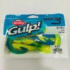 "Berkley Gulp 6"" Swimming Grub Blue Fuze Color 4 Count Each X3 (3 Packs)"