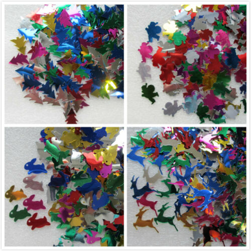 15g Christmas Xmas Sequins Cards Confetti Sewing Crafts Santa Reindeer Tree