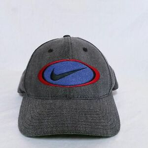 ee6f4962a2fc83 VTG Nike Strapback Hat 90s Big Logo Cap Jordan Golf Agassi Air Denim ...