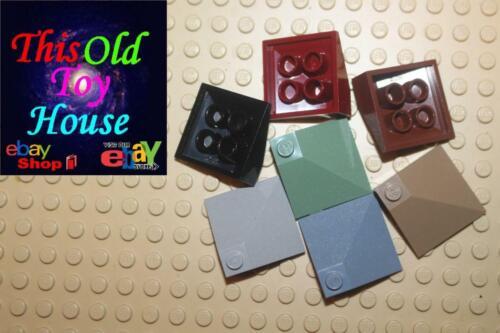 Tijolo LEGO 3675 3X3 Canto Convexo Telhado Telha escolha de cor Seminovo