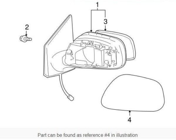 Toyota Oem Corolla Outside Mirrors Front Door Mirror Cover Right