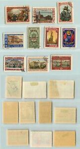 La-Russie-URSS-1953-SC-1700-1708-1709-utilisee-rta4663
