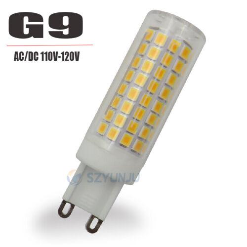 10W LED Bulb G9 E11 E12 E14 E17 BA15D 110V 102LED 2835 Ceramic Light dimmable