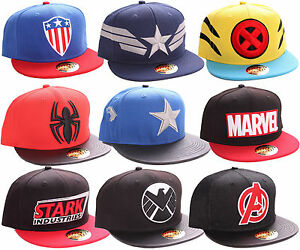 Marvel-Comic-Caps-Logo-Cap-Superhelden-Baseball-Hip-Hop-Kappe-Muetze-Snapback-2