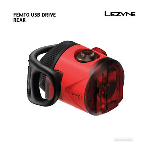 Lezyne Femto Drive LED Clip-On Bike Light Red