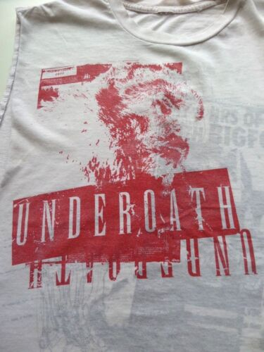 Underoath Shirt S M L Distressed Bigfoot Cutoff T
