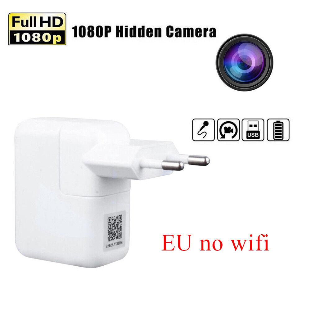 Mini WIFI 1080P versteckte Kamera Wand Ladegerät Wireless USB Nanny Cam US//EU//UK
