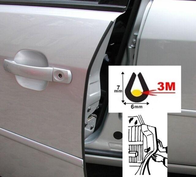 Kantenschutz zum Auto Schwarz mit 3M Kleber Türkantenschoner 61 Cm x 2 Stück