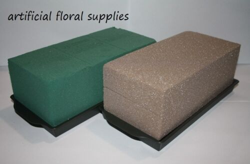 1 brick tray /& 1 oasis brick choose from wet or dry 4 artificial//fresh 2 items