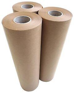 3 X Maler Abdeckpapier 225mm X 50m Ca 40g M Braun Papierrollen