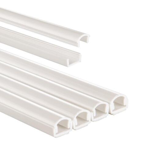 Hama PVC-Kabelkanal 4 Stück selbstklebend halbrund 100//1,1//1,0 cm Weiß