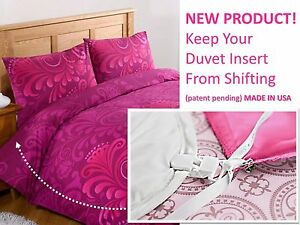 Duvet Clips and Sheet Fasteners- Duvet Insert Clips, Pin Ties, & Sheet Fasteners