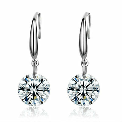 925 Sterling Silver Plated Dangling Drop Earrings Naked