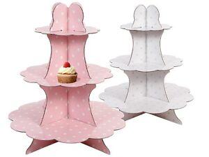 Cupcake-Muffin-Toertchen-Torten-Staender-3-Boeden-Pappe-Etagere-Muffin-staender