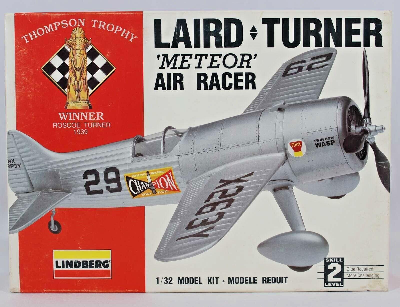 Lindberg Laird Turner Meteor 1  32 modellllerL KIT - AIR RACER - VINER ROSCOE TURNER