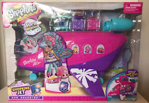 NEW-SHOPKINS-WORLD-VACATION-JET-AIRPLANE-PLAYSET-TOY-w-3-EXCLUSIVE-SHOPKINS