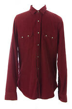 TOPMAN Men's Red Ribbed Long Sleeve Shirt w/Pockets 83S26C US Size XL NEW $64