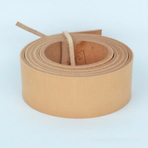 Veg-Tanned-Genuine-Leather-Blank-Band-Strap-Natural-Cowhide-38-5mm-100-150cm-DIY