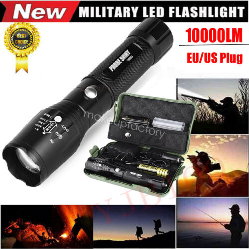 10000LM ShadowHawk X800 LED Zoom Military Grade Tactical Flashlight Torch Light