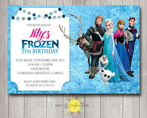 photograph about Frozen Birthday Card Printable identify Information pertaining to Tailor made Printable Frozen Birthday Invitation Any Age Elsa Olaf Anna