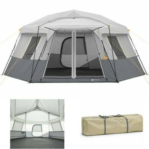 Instant Camping Tent Large Cabin Hiking Camping Backpacking Season Easy Pop Up