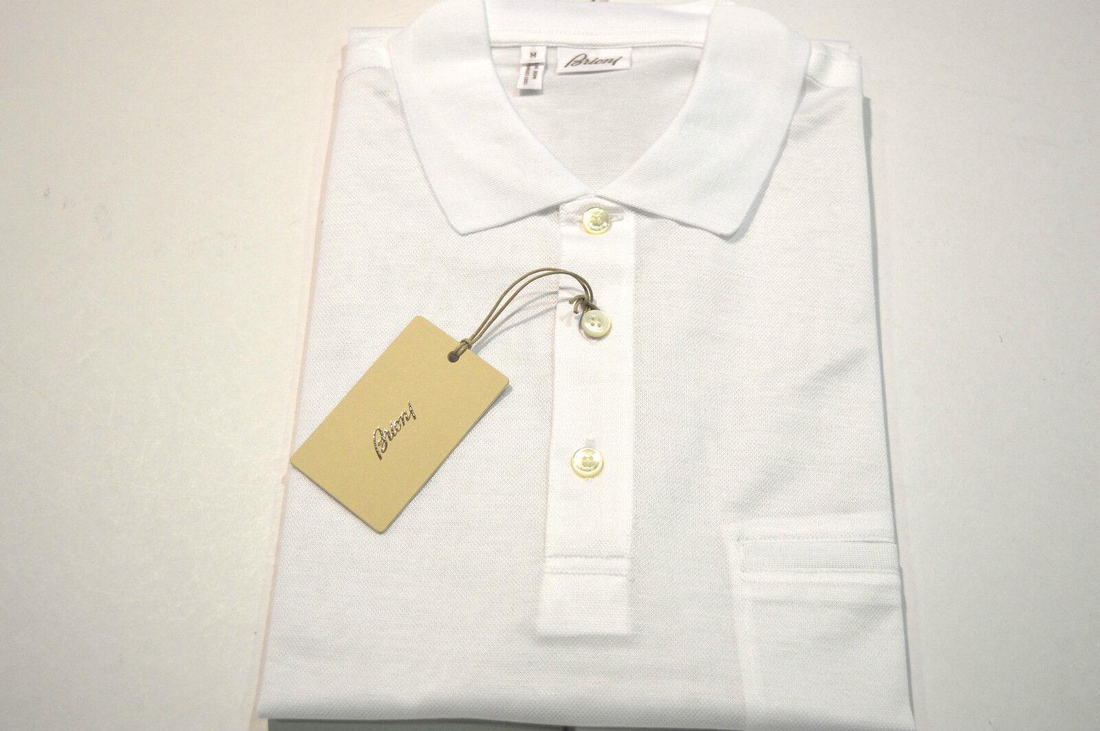 NEW  BRIONI Polo  Short Sleeve Cotton Größe M Us Eu 50 (Cod 4)