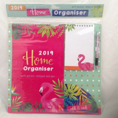18-19 HOME FAMILY ORGANISER PLANNER SCHOOL WALL HANG CALENDAR NOTES GIFT X MAS