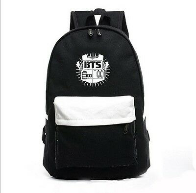 KPOP Bangtan Boys Schoolbag Satchel Backpack Student Book bag BTS