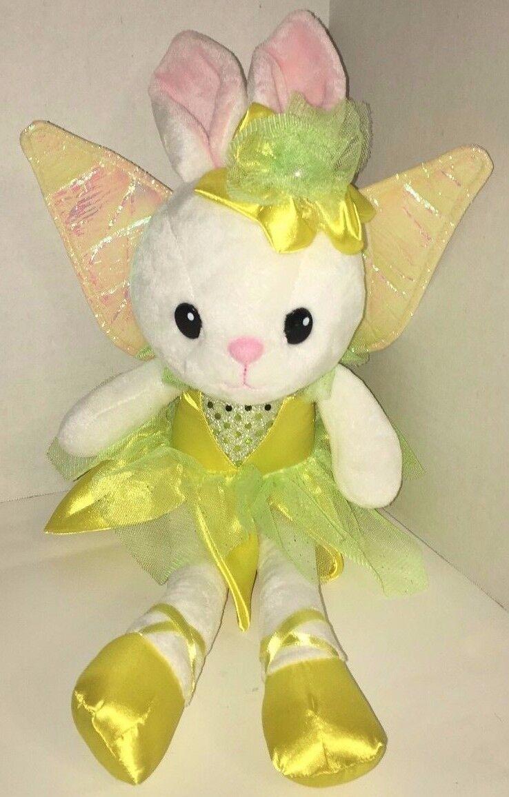 Everland Fairy Wings Weiß Ballerina Bunny Rabbit Plush Yellow Green