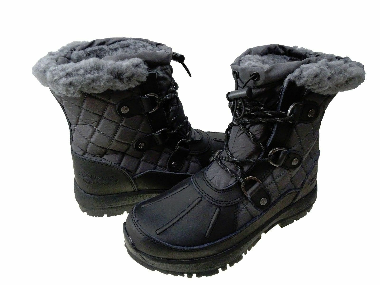 Bearpaw Womens Bethany Lace Up Waterproof Cold Weather Shearling Snow Boots