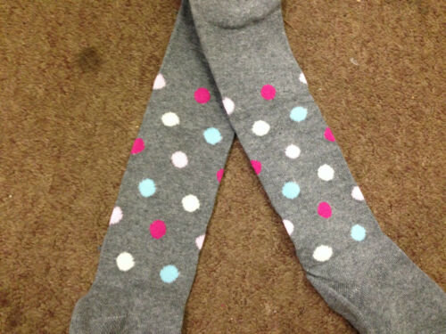 BABY GIRL/'S TIGHTS GREY SPOTTY COTTON RICH 0-6M