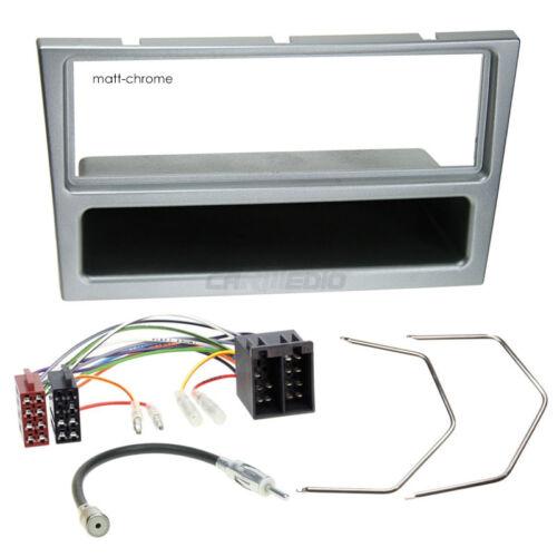 Autorradio kit de integracion 1-din Opel Corsa C 00-04 cable enmarcar Matt-Chrome