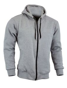 M, Grey Motorbike Hoodies For Men Armoured Hoodie Hoody Fleece Jacket Zip Up Removable Armour Bikers Fashion Gears